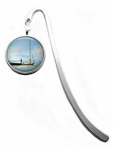 Silver Plated Sailing Boat at Whitstable Art Cabochon Bookmark