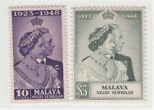 MALAYA NEGRI SEMBILAN 1948 ROYAL SILVER WEDDING SG 40/41  MNH PERFECT