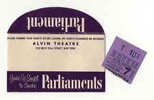 "George Gershwin ""PORGY and BESS"" Todd Duncan / Anne Brown 1935 Ticket Stub"
