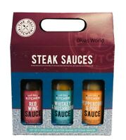 Steak Sauces The Deli Kitchen Set Of 3 Red Wine/Whisky &Mushroom/Peppercorn 150g