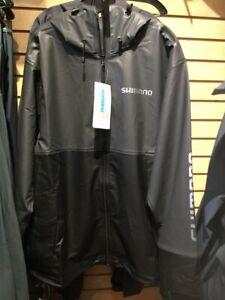 SHIMANO FISHING PUR RAIN JACKET BLACK - SIZE XL