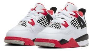 Nike Air Jordan 4 Retro (TD) 'Fire Red' 2020 Toddler Shoes BQ7670-160