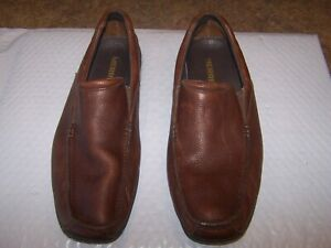 Merrell Mens Rally Moc Color Brown Dark Earth Dress Loafers 12 US Shoes J38507