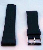 Neu  Elysee Triton 82002 Ersatz Uhrenband Uhrenarmband Leder schwarz 26mm E63