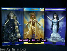 Midnight Moon Barbie Doll Morning Sun Evening Star Celestial Princess Set Lot 3