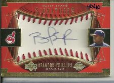 2003 Sweet Spot - BRANDON PHILLIPS - Gold Ball Autograph - REDS INDIANS #d 40/40