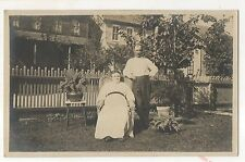 RPPC Older Victorian Couple - Vintage Real Photo Americana Postcard