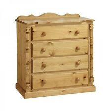 PINE FURNITURE SANDRINGHAM 4 DRAWER CHEST NO ASSEMBLY REQUIRED!!!