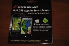New GOLF GPS App for Iphone & Android Sonocaddie  includes 5 course layouts