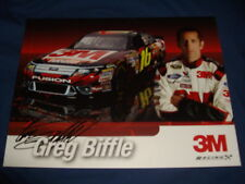 2011 GREG BIFFLE #16 3M NASCAR POSTCARD