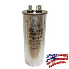 US CBB65 450VAC 55uF Motor Capacitor Air Conditioner Compressor Start Capacitor