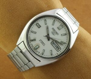 VINTAGE SEIKO 5 6319A AUTOMATIC JAPAN MEN'S WORKING WRIST WATCH 36mm A0116