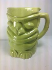 Tiki Mug Pitcher Bright Green Ceramic Jumbo Size by Designpac