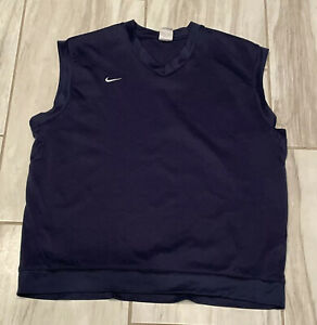 Nike Golf Dri-Fit Vest Mens Size XL Blue Pullover