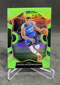 2020-21 Select Giannis Antetokounmpo Lime Green Prizm /75 -Not Rookie RC-💚🥵NBA