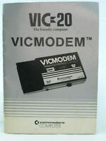 Vtg Commodore Computer VIC-20 VicModem Users Guide Book Manual Instruction 1982