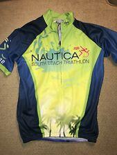 Men's Cycling Jersey Nautica K-Swiss South Beach Miami Triathlon Tri Jersey S