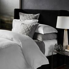 Matouk Celinda Egyptian Cotton FULL/QUEEN Duvet Cover WHITE/GREY Bedding B126