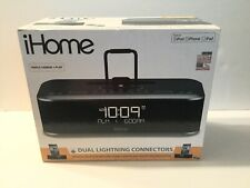 iHome iDL100GC FM Stereo Clock Radio with Built-In Dual Lightning Connectors