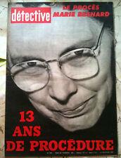 DETECTIVE 17/11/61 Marie Besnard/ Tragédie de Leers