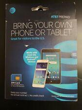 At&T Prepaid Starter Kit 3G,4G Lte Sim Card for Standard, Micro,Nano Sim Nib