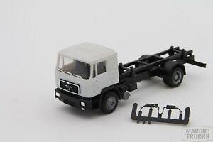 Herpa MAN F90 Swap bodynmotorwagen 2axis black/grey unprinted /H6347-1