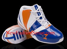 New Authentic Starbury 2 White Blue Orange SE High Top Basketball Shoes Size 6.5