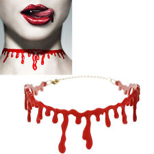 1pce Cutting Bloodstain Necklace Halloween Party Cosplay Decoration