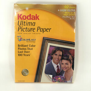 Kodak Litima Picture Paper For Inkjet Prints New Colorlast Technology 40 Sheets