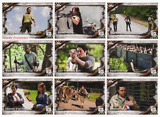 2017 TOPPS Walking Dead Season 6 - 100 Trading Card Base Set + Empty Box + Wrap