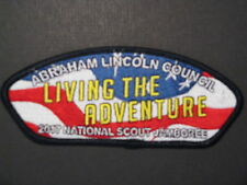 BOY SCOUTS  ABRAHAM LINCOLN COUNCIL  2017 JAMBOREE JSP PATCH SPRINGFIELD