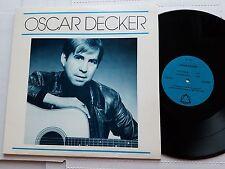 """OSCAR DECKER - s/t PRIVATE POWER POP 1986 Austin Texas 12"""" 45rpm EP RARE Sonstar"""