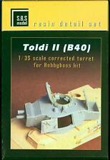 SBS Models 1/35 TOLDI II (B40) TANK CORRECTED TURRET Resin Photo Etch Update Set