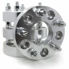 """4 Wheel Spacers Adapters ¦ 5x5 To 5x120 ¦ 1.25"""" Thick ¦ 14x1.5 Studs"""