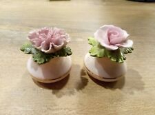 Paire de charmantes salières/salt shaker  porcelaine Denton, England