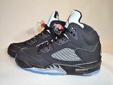 Men's Nike Air Jordan 5 Retro OG Size 15 (845035 003) Black/Red/Silver/White