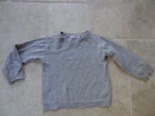 pull MONOPRIX kid 3 ans gris, coton/laine