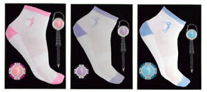 Ladies Golf Socks Gift Set with Pencil Reel and Poker Chip Markers.