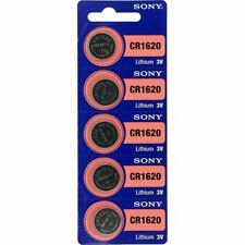 5 x Sony Batterie CR1620 Lithium 3V Knopfbatterie CR 1620 Knopfzelle Auto
