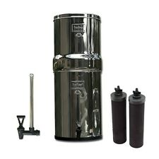 "Royal Berkey Water Purifier 2 Black Filters & 10"" Water View Sight Glass Spigot"
