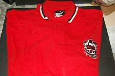 Arena Football League New Jersey Red Dogs Coaches Polo RED VERY RARE
