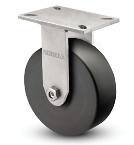 FALLSHAW 300mm Heavy Duty Industrial Fixed Castor Wheel - 2450kg VXQ300/VZF AU