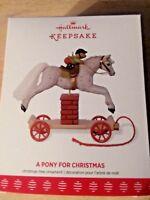 Hallmark 2017 Keepsake  Ornament A Pony For Christmas  20th in Series
