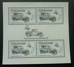 [SJ] Czechoslovakia Vintage Cars 1988 Vehicle Automobiles Transport (ms) MNH