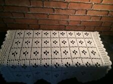 "Best Seller LARGE Classic white ""Call the Midwife"" handmade crochet baby blanket"