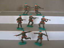 Timpo 1st series American Green berets very rare - set of 7 in all 7 poses ex/c