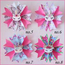 """20 BLESSING Girl Popular 3.5"""" Fairy Hair Bow Clip Unicorn Rainbow Flower Baby"""