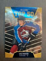 2019-20 Upper Deck Allure Top 50 RC #9 Cale Makar Rookie Colorado Avalanche