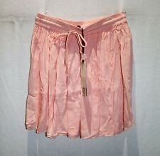 Piping Hot Brand Light Pink Drawstring Waist Crinkle Mini Skirt Sz 10 BNWT #TC58