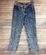 Vintage Levis Denim 501 XX High Waist Acid Wash Mom Jeans Size 11 17501-0112